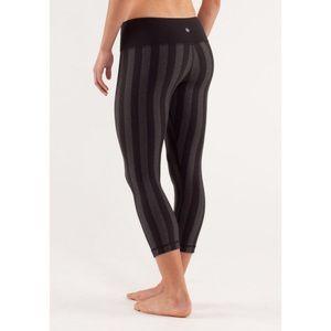 LULULEMON | wunder under stripe crop legging pant